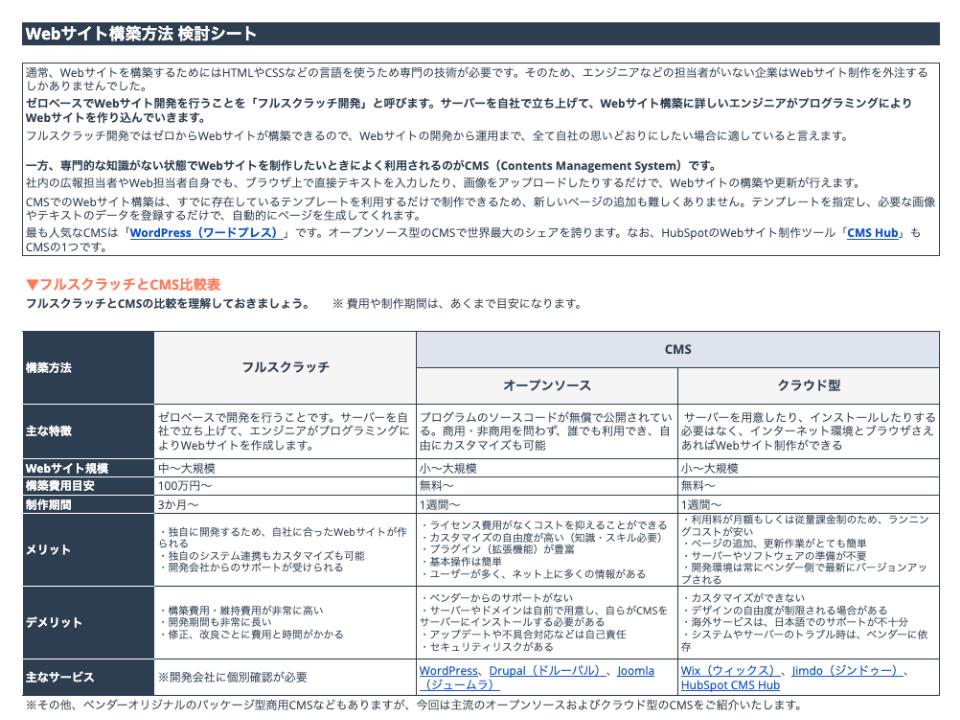CMSを活用したWEBサイト作成ガイド & CMS選定シート_02