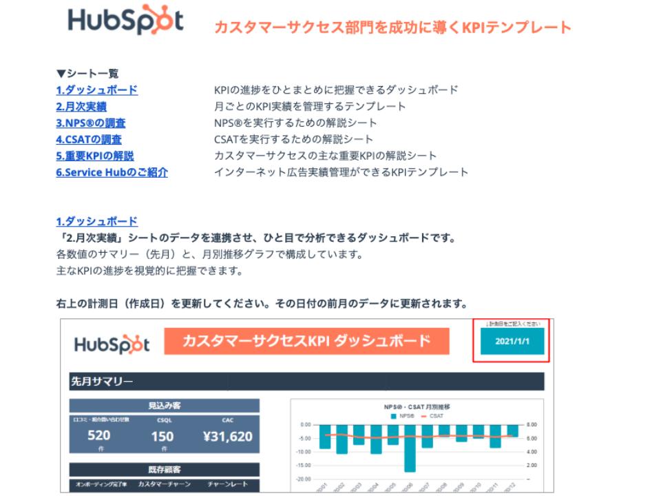 カスタマーサクセス部門を成功に導くKPIテンプレート_01